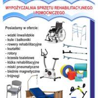 Ulotka - Wypożyczalnia Sprzętu Rehabilitacyjnego i Pomocniczego - przód